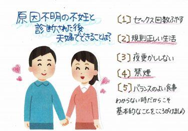 【原因不明の不妊と診断された後 夫婦にできることは?】