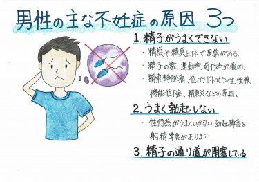 【男性の主な不妊症の原因 3つ】