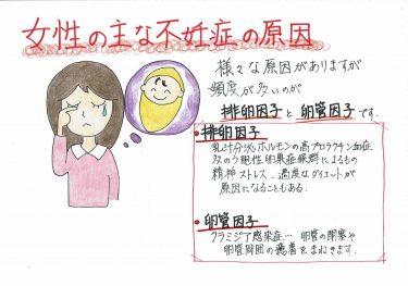 【女性の主な不妊症の原因】